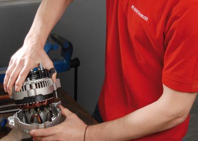 Opening an alternator