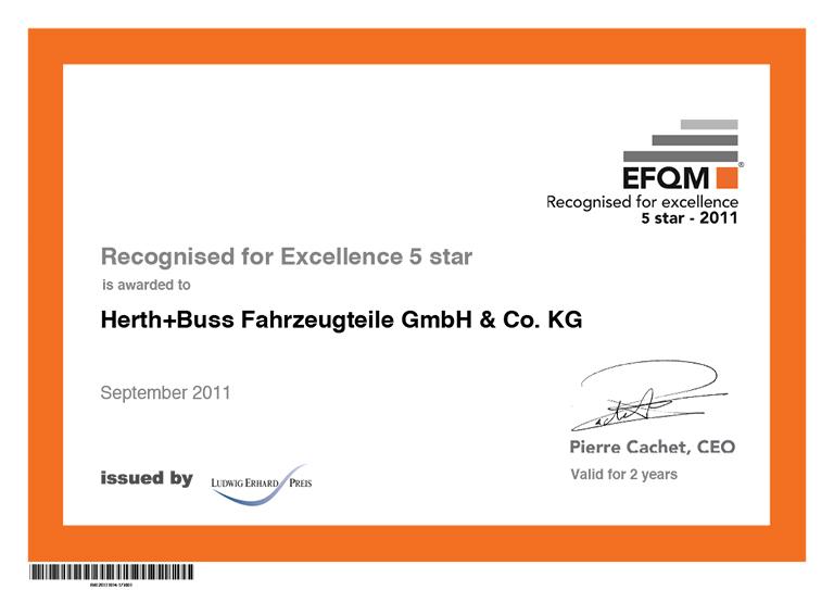 EFQM-Excellence - Herth+Buss