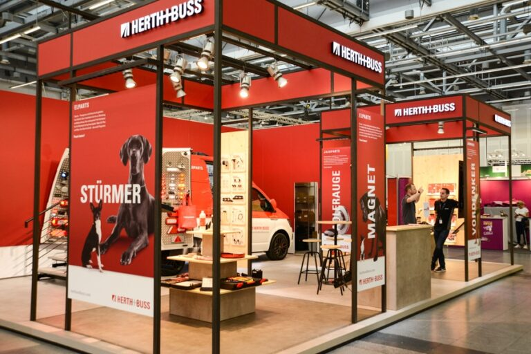 All new in May – A new exhibition stand for Herth+Buss