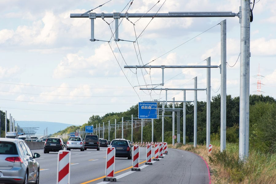 E-highway on the A5: Germany's first test route for hybrid HGVs