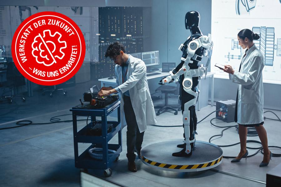Die Werkstatt der Zukunft: Wie Exoskelette der Kfz-Werkstatt unter die Arme greifen